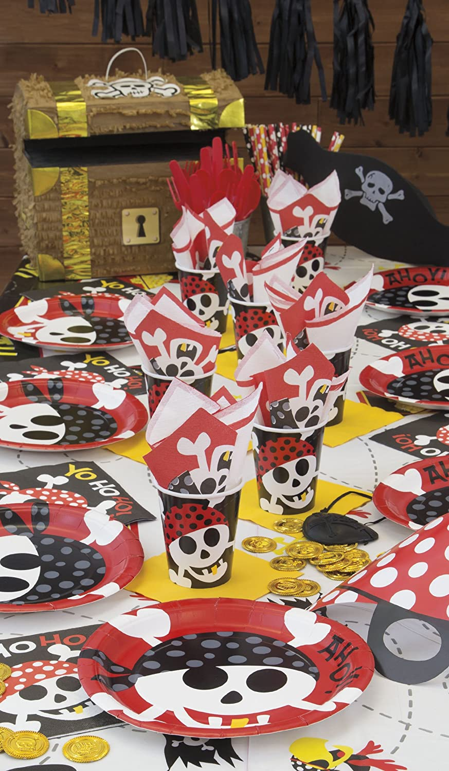 213 cm x 137 cm Tovaglia Plastificata per Feste a Tema Pirati Unique Party 40493