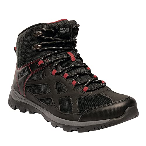 6637152dae Regatta Mens Kota Crux Mid Hiking Boots (9 UK) (Black Pepper ...