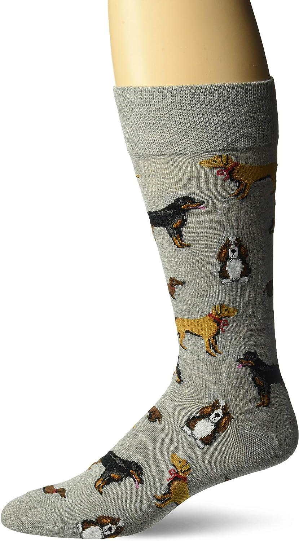 Hot Sox Men's Animal Series Novelty Casual Crew Socks