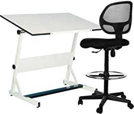 Sleekform Drafting Chair | Tall Office Stool for Table | Adjustable Standing Desk or Counter |  sc 1 st  Amazon.com & Office Drafting Chairs | Amazon.com | Office Furniture u0026 Lighting ...
