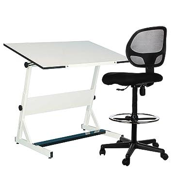 sleekform redacción silla – taburete de redacción ideal para trabajo, escuela o en casa –