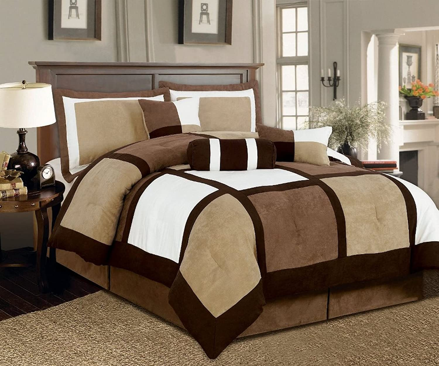 and sets getmojito size king s comforter brown blue