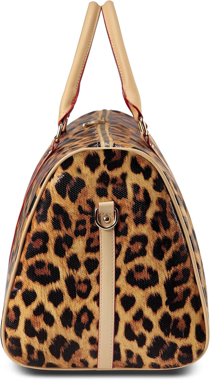 Large Weekender Carry-on Roaring Wild Leopard Ambesonne Modern Gym Bag