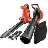 Black+Decker Laubsauger und Bläser GW3050 mit Häcksler und Laubrechen | 50l Fangsack | 3000W | Extrem stark mit variabler Blasgeschwindigkeit | Rückenschonende Benutzung