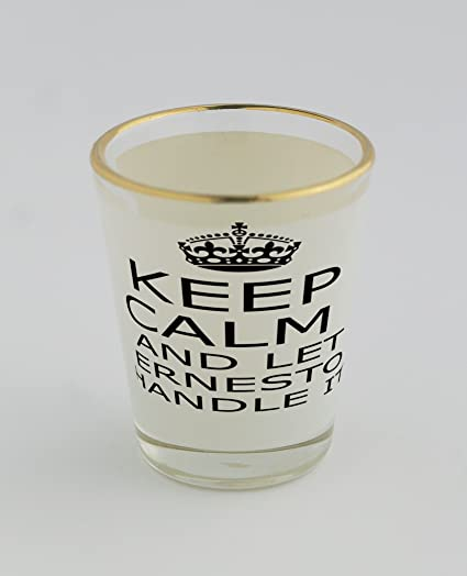 Vasos de chupito con oro borde con mango IT Ernesto Keep Calm