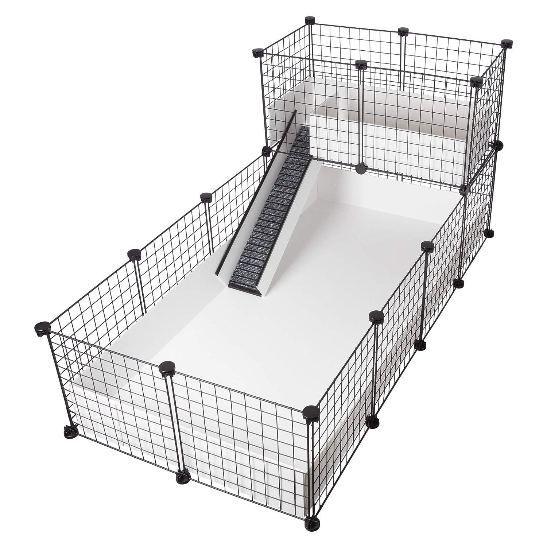 CagesCubes - Jaula CyC Deluxe (Base 2X4 + Loft 2x1 - Panel ...