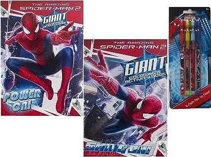 2 Livres De Coloriage Spiderman Et D Une 4 Pieces De Crayons De Pop Up Amazon Fr Fournitures De Bureau