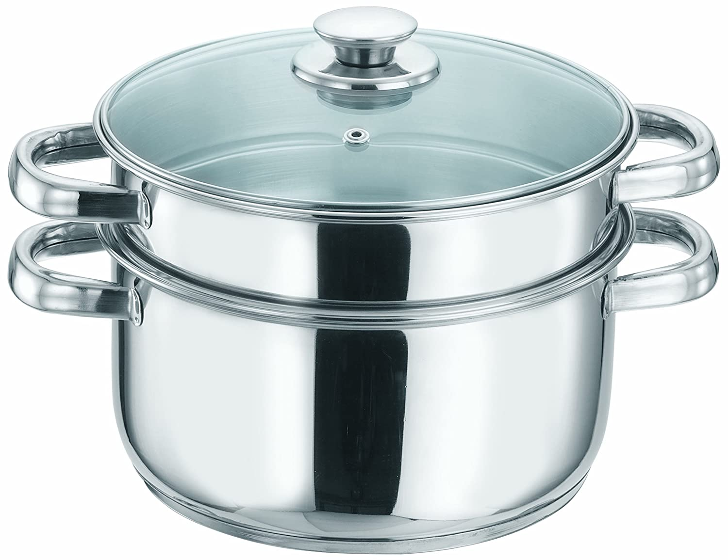Buy Vinod Cookware 2 Tier Steamer, 18cm Online at Low Prices in ...
