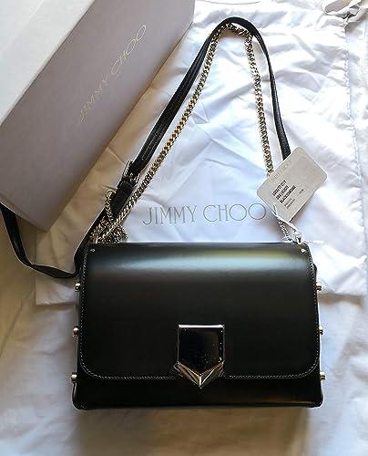 1337a756f5f Jimmy Choo women s leather shoulder bag original black  Amazon.co.uk  Shoes    Bags