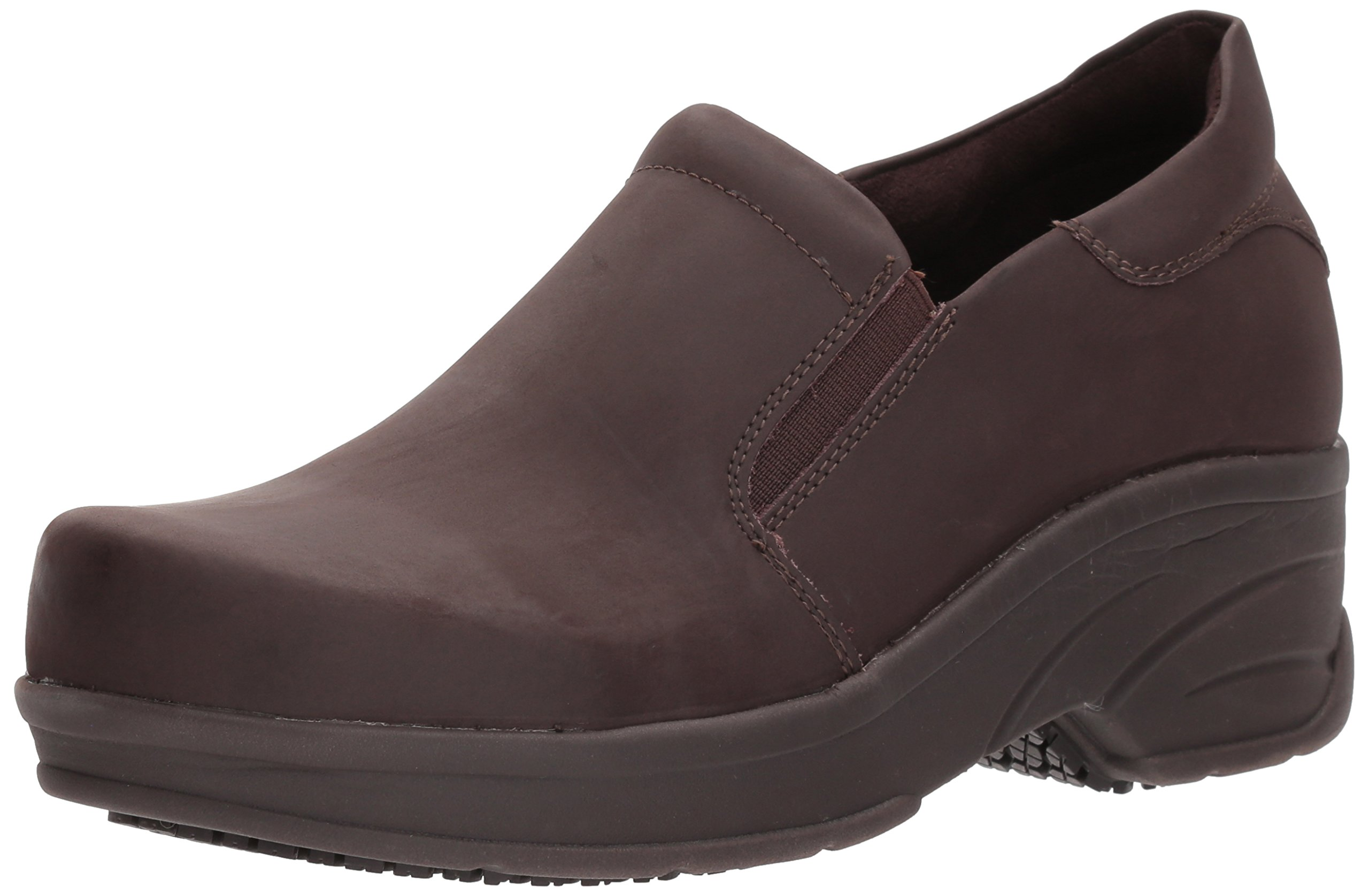 Easy Works Women's Appreciate Health Care Professional Shoe, Brown nub, 6 W US by Easy Works
