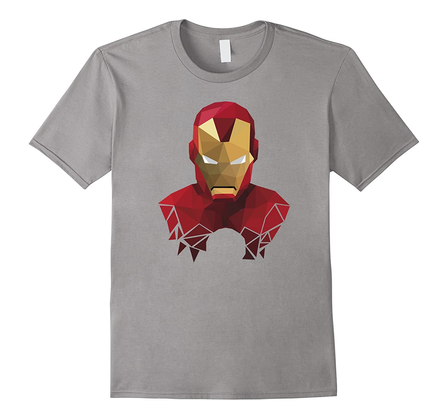 Geometric Style Iron Man Graphic T-Shirt-FL