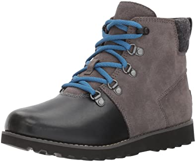 UGG Boys K Hilmar Lace-up Boot, Charcoal, 10 M US Toddler