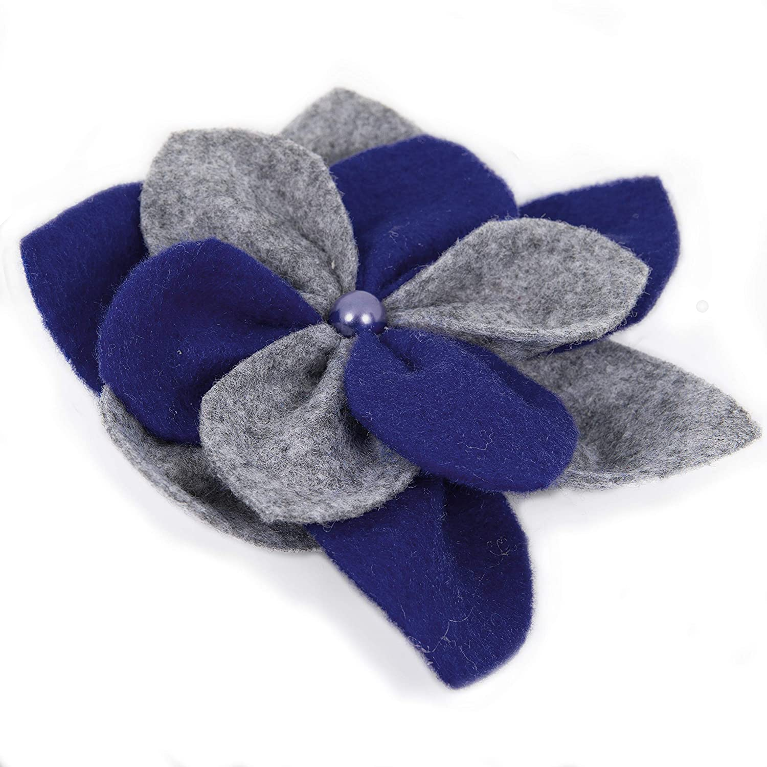 Hat or Scarf Wear it with Coat Bag Handmade Felt Accessories Jewellery for Woman OiA 10cm Flower Brooch Swater