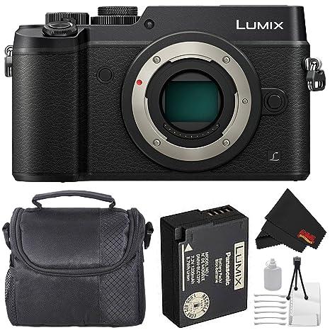 Panasonic Lumix DMC GX8 Mirrorless Micro Four Thirds Digital Camera  Body Only, Black  Bundle with Carrying Case + More Digital Cameras