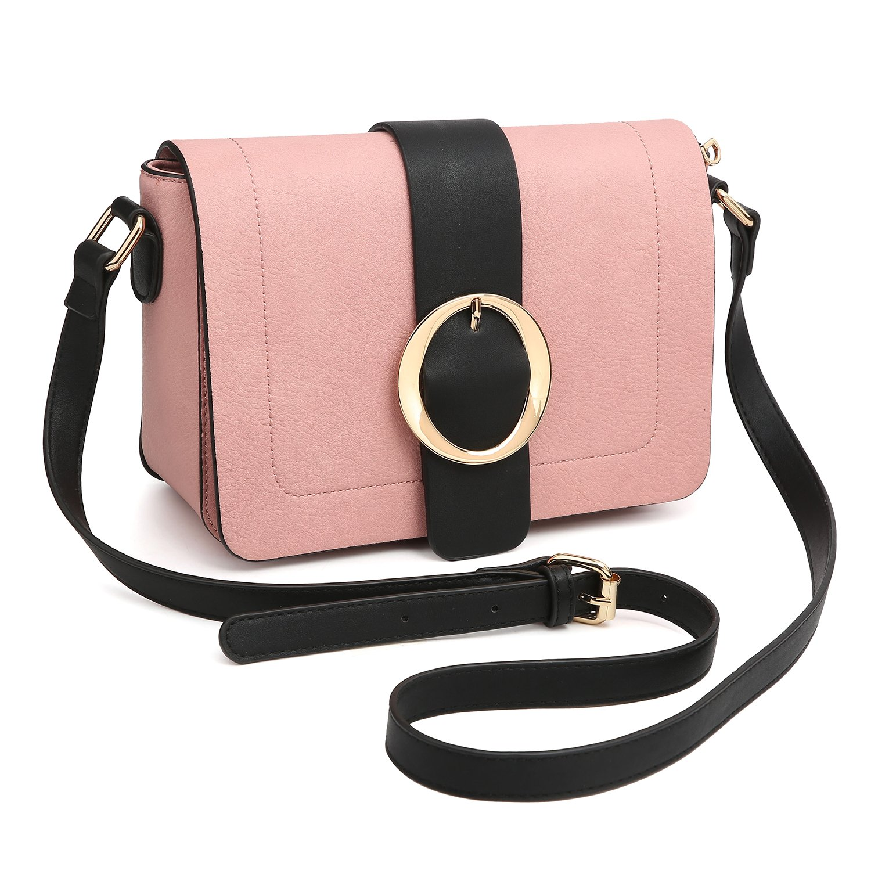 Women Vegan Leather Crossbody Shoulder Bags Designer Fashion Purses Structured Messenger Bags by Dasein