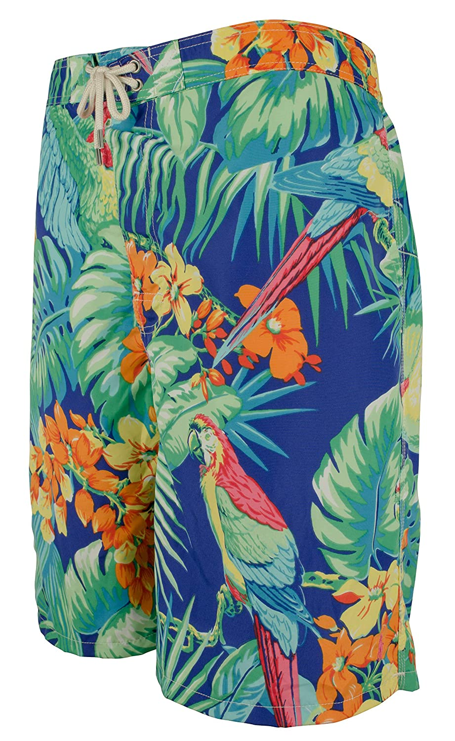 Blue with Parrots 2XB Ralph Lauren Polo BT Mens Tropical Board Shorts