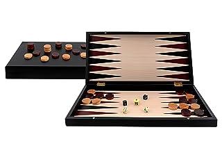 Aquamarine Games–Backgammon Black Series, colore: nero (Compudid S.L. CP033)
