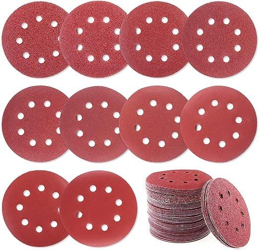 30pcs 5 inch 80-2000 Grit 8 Holes Sand Discs Sanding Paper Discs