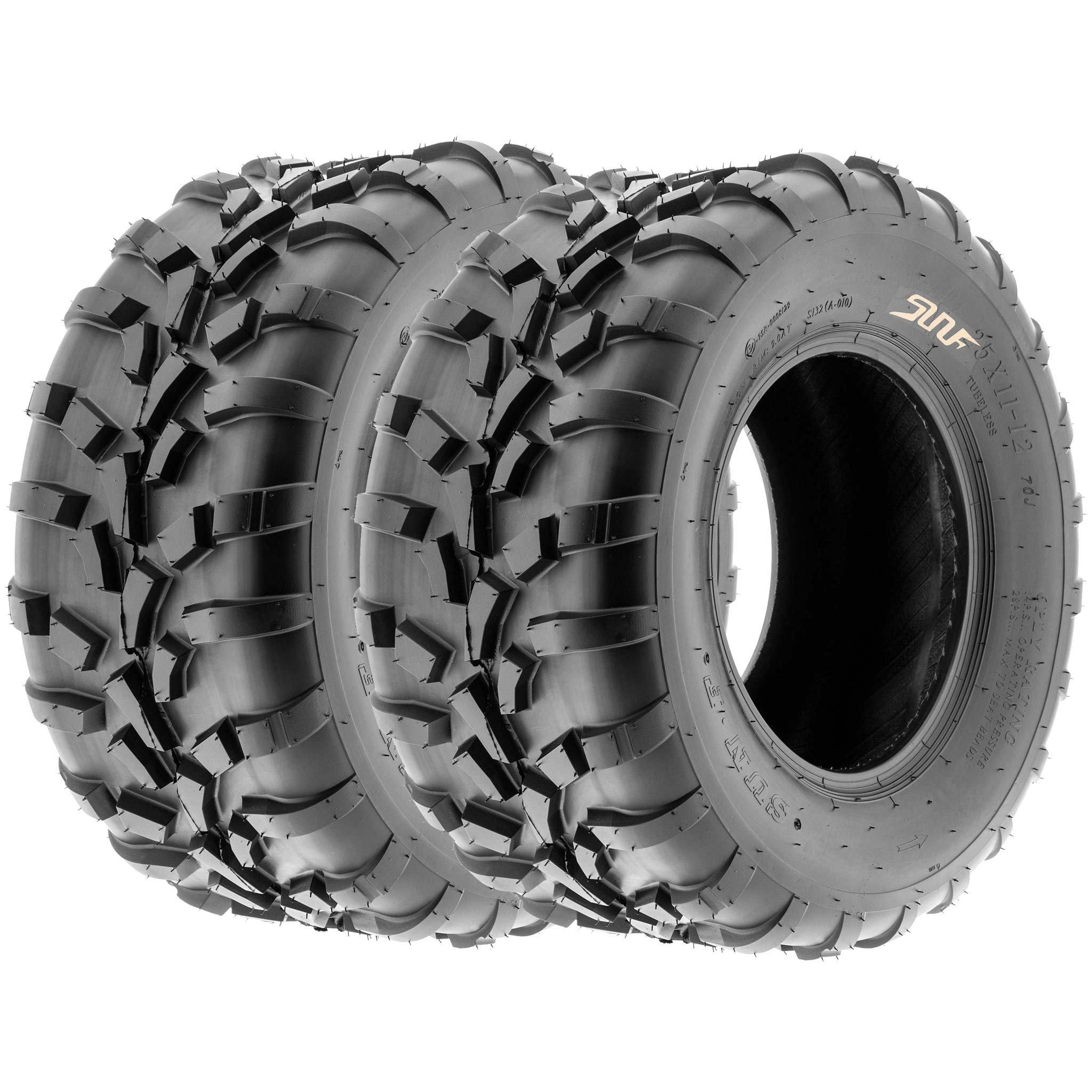 SunF All Terrain ATV UTV Sport Tires 25x11-10 25x11x10 6 PR A010 (Set pair of 2)