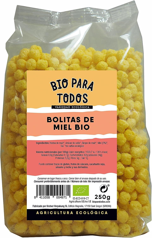 Bio para todos Bolitas de Miel Bio - 10 Paquetes de 250 gr ...