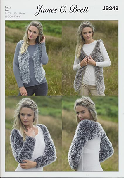 James Brett pelo sintético para mujer patrón para tejer para mujer ...