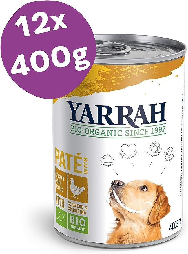 Yarrah Paté Orgánico para Perros con Pollo - 12 x 400 gr - Para ...