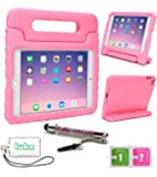 luka Multi Function Child/Shock Proof Kids Cover Case with Stand/Handle for Apple iPad Mini 1/2/3 Tablet (Ipad Mini, Light Pink)