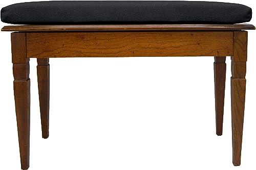 RSH D cor One Elegant Functional Performance Velvet Piano Bench Cushion-Chair Pad Cushion Only Choose Color Ebony Black