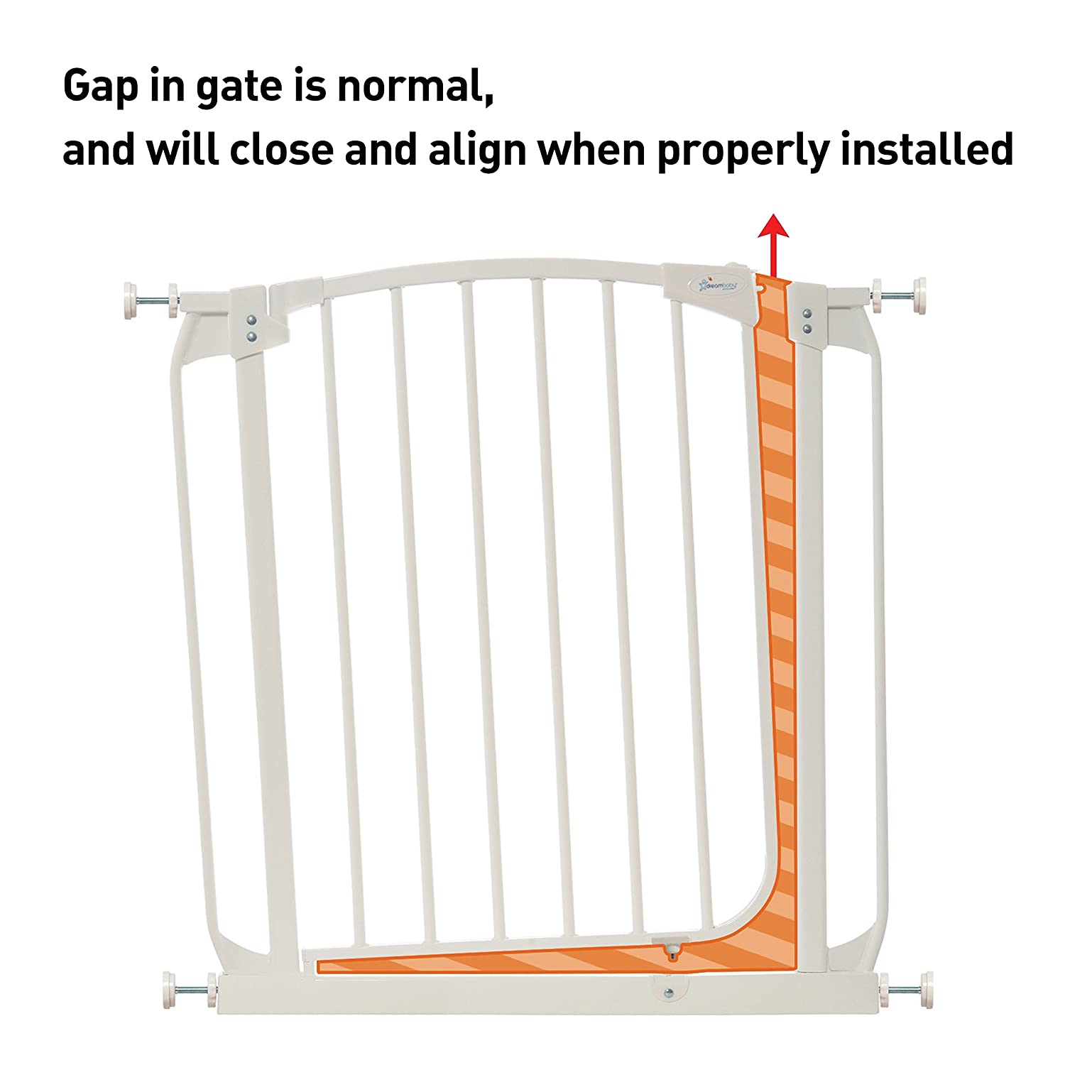 Dreambaby Chelsea Xtra-Wide Hallway Auto-Close Security Gate