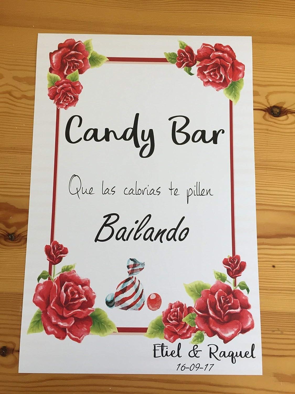 Cartel Candy Bar, que las calorías te pillen bailando ...