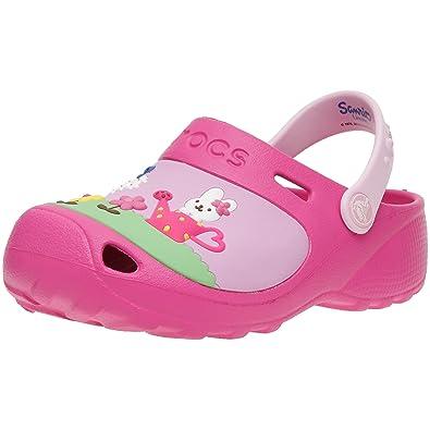 HelloKitty CustomClog 11564, Mädchen, Clogs & Pantoletten, Pink (Fuchsia/Bubblegum), EU 33/34 (US J2) Crocs
