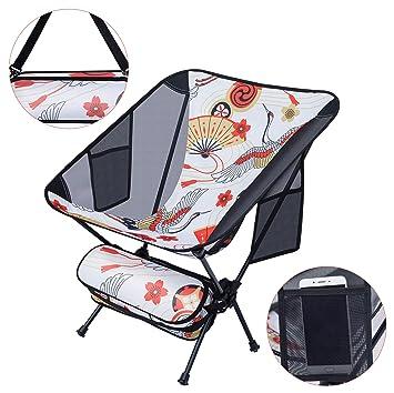 Amazon.com: NiceC - Silla de camping ultraligera, plegable ...