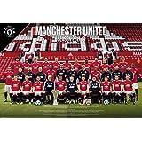 GB eye Ltd Manchester United, Team Photo 17/18, Maxi Poster 61x91.5cm, Wood, Various, 65 x 3.5 x 3.5 cm