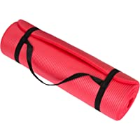 """Wakeman Fitness Extra Thick Yoga Exercise Mat 71"""" X 24"""" X 0.5"""" Blue"""