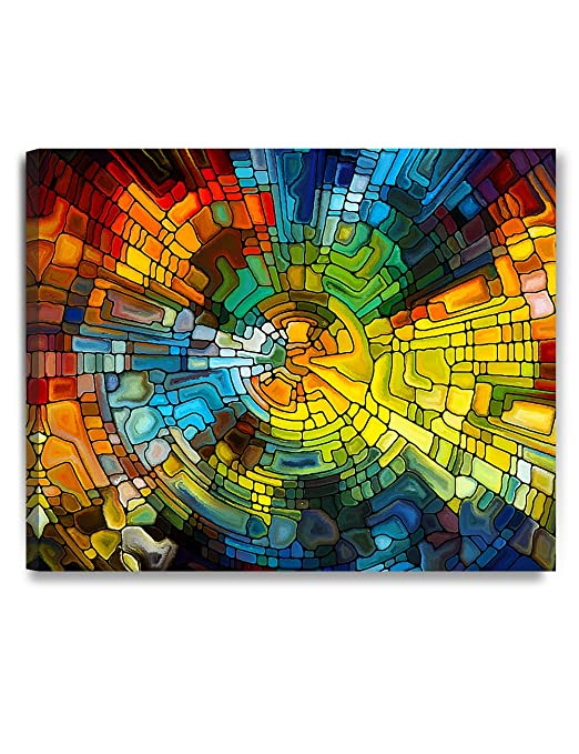 DecorArts - Abstract Art( Stained Glass Pattern), Giclee Prints