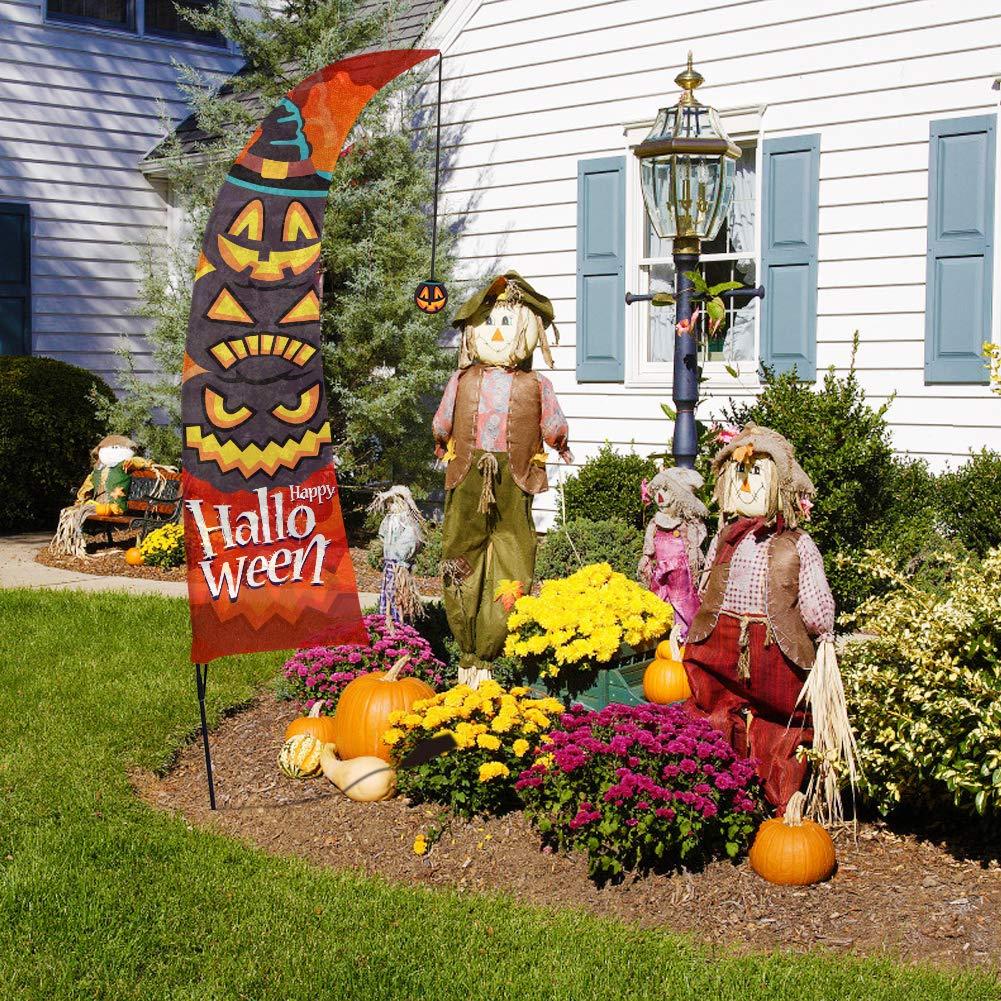 Fant/ôme Maison de chasse JoyTplay 10 pi/èces Grandes D/écorations dHalloween lint/érieur et lext/érieur,Citrouilles dHalloween Trick or Treat D/écorations de jardin de Halloween Monstre