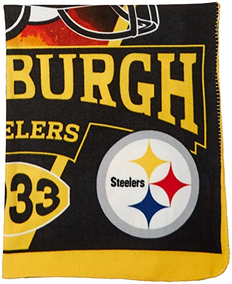 bf16277158a Amazon.com   The Northwest Company NFL Pittsburgh Steelers Banner Printed  Fleece Throw