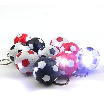 20x Fussball Schluesselanhaenger Mit Led Lampe In 4