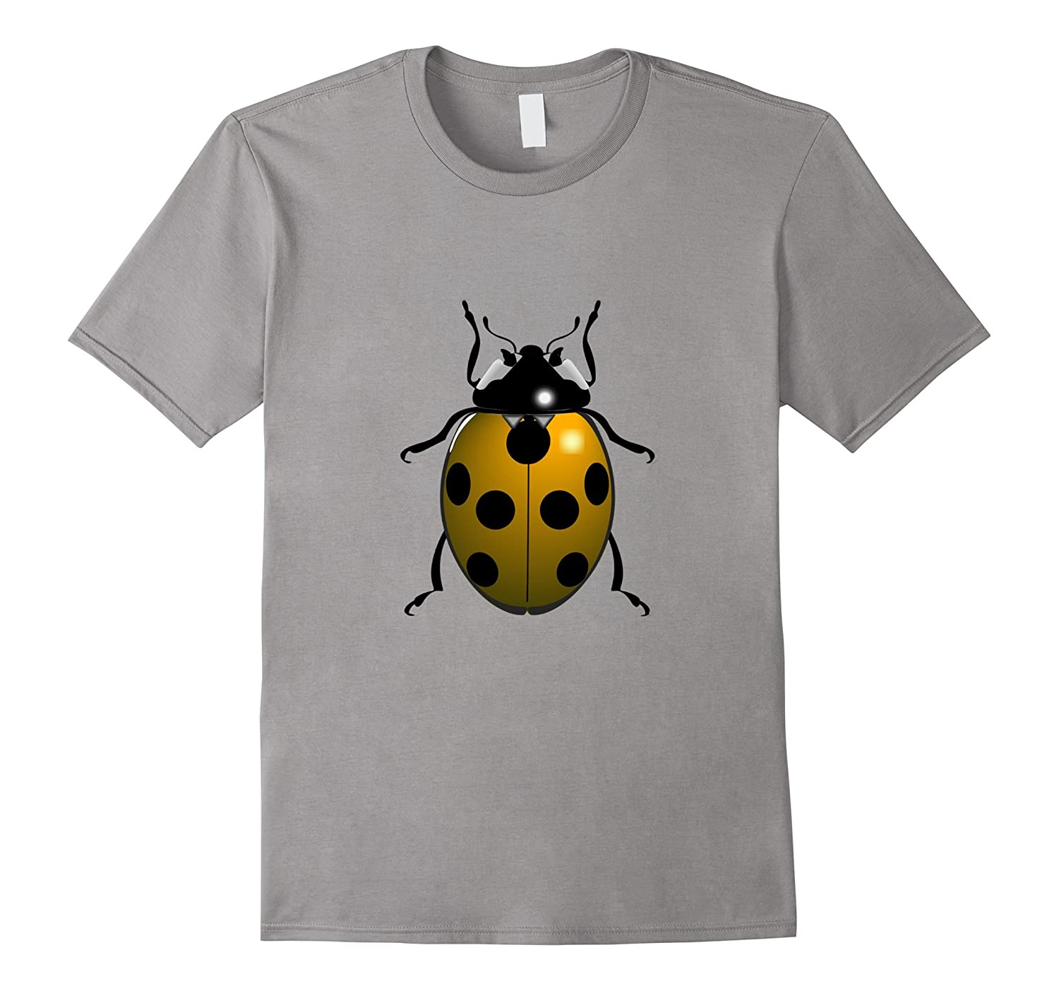 adorable Yellow Ladybug t-shirt Cute Lucky Insect-ANZ