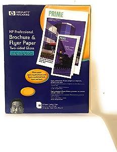 HP C6817A Brochure Inkjet Paper,48 Lb,8-1/2-Inch x11-Inch,89GE/100 ISO,50/PK,WE