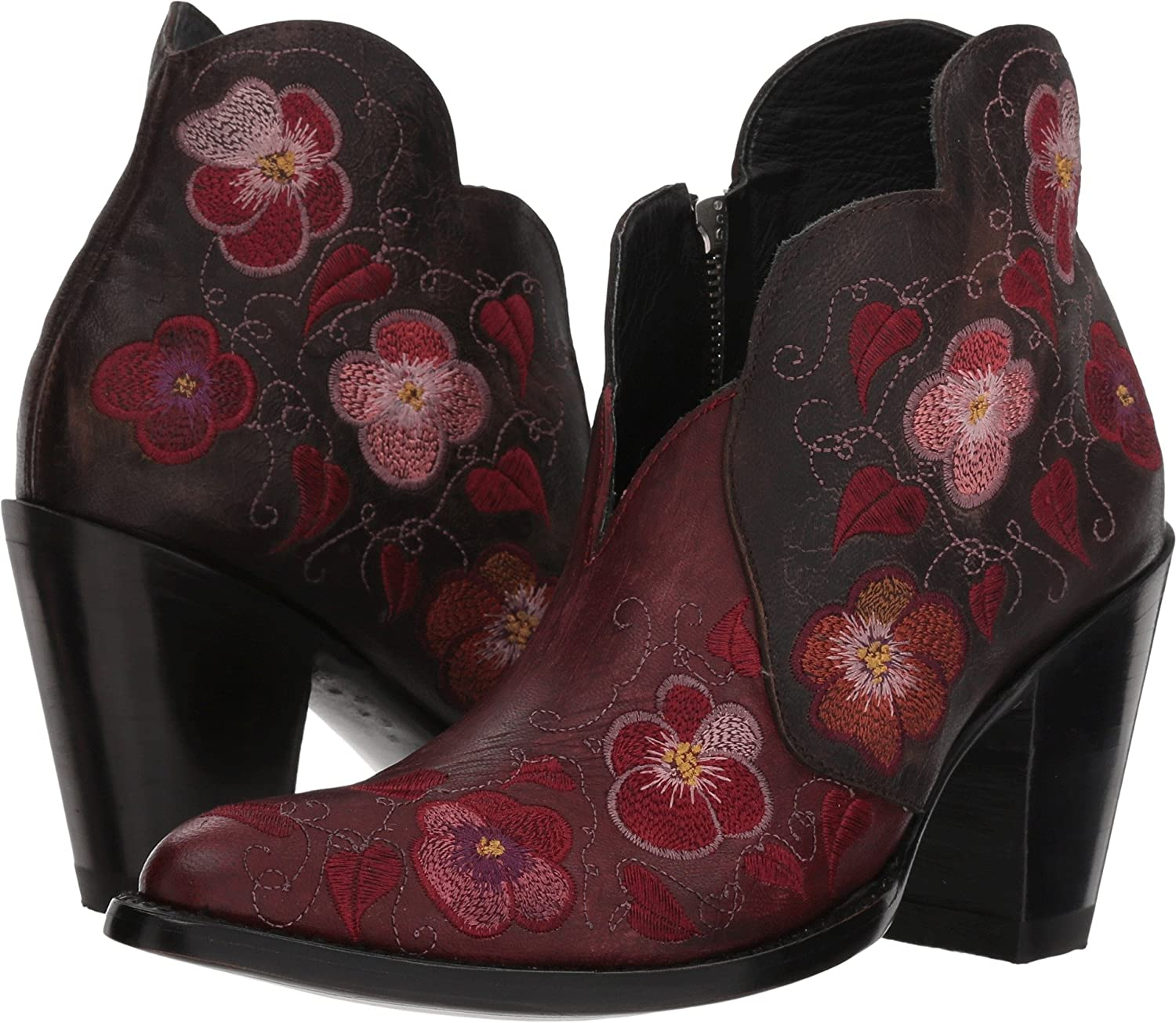 Old II Gringo Womens Pansy II Old B078SYXSFL 7.5 B(M) US|Red/Chocolate 2f753d