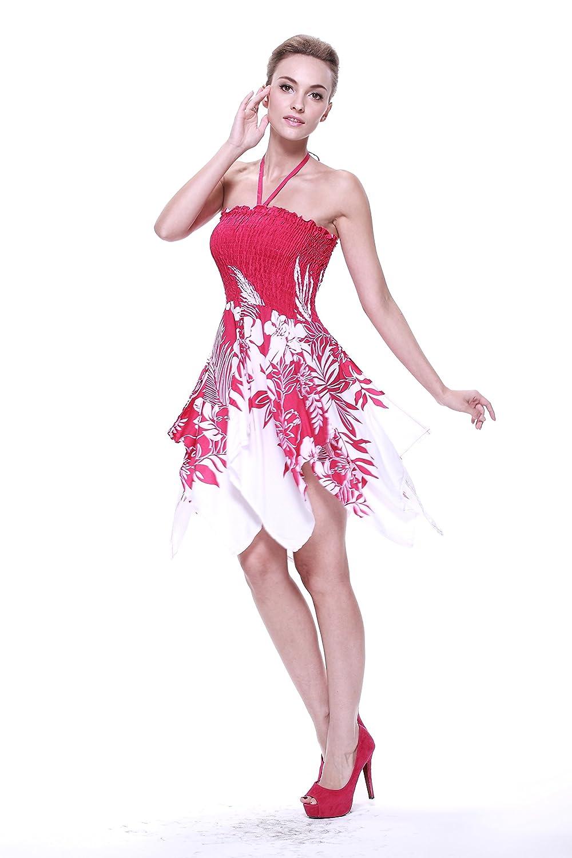 Vestido gitano Vestido hawaiano Vestido Luau Vestido de hada en Indri Rosa: Amazon.es: Ropa y accesorios