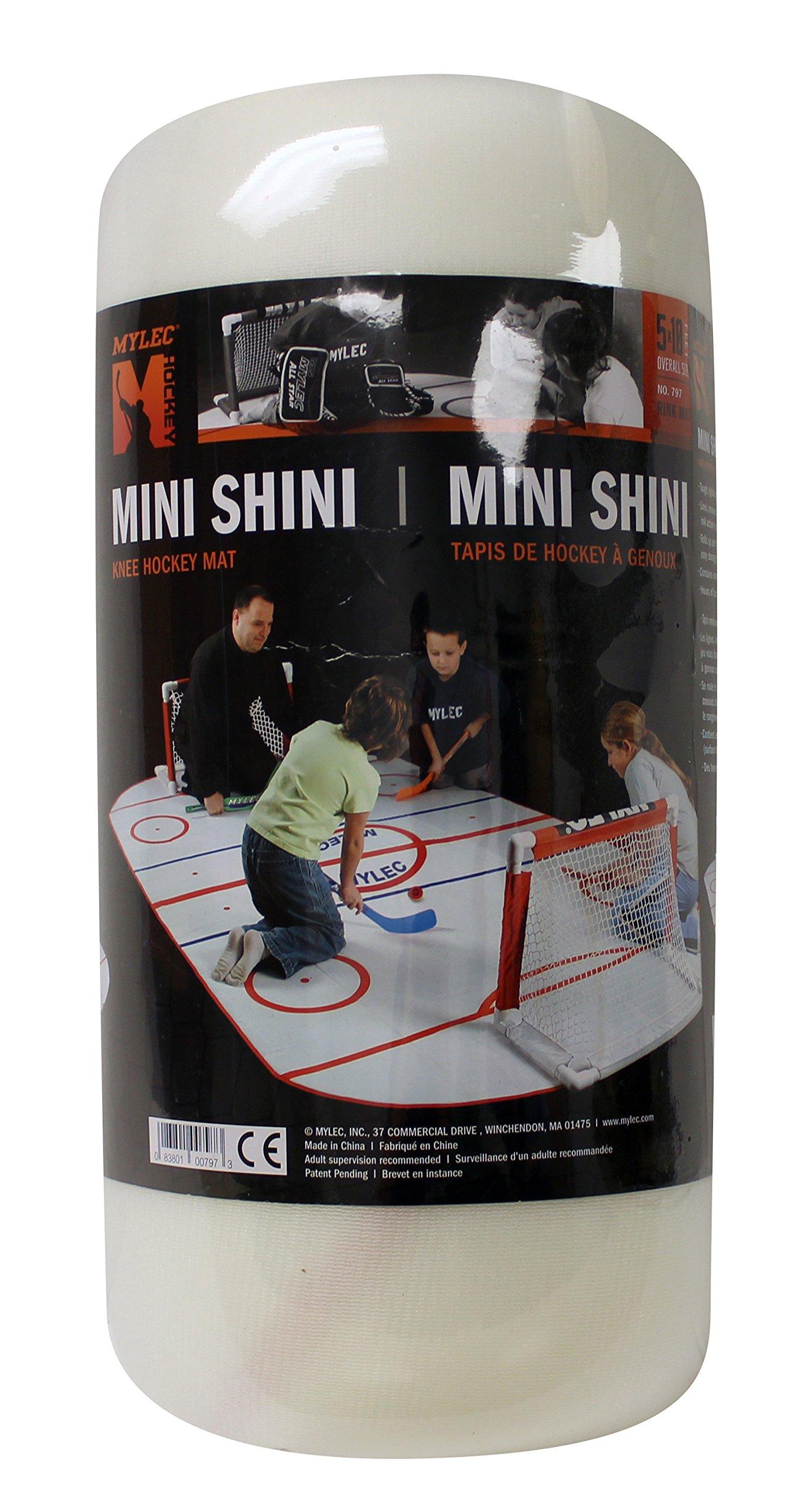 Mylec Mini Shini Rink Mat (White, 5x10-Feet)