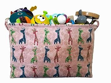 Amazon.: Canvas Toy Organizer Bins and Storage with Giraffe