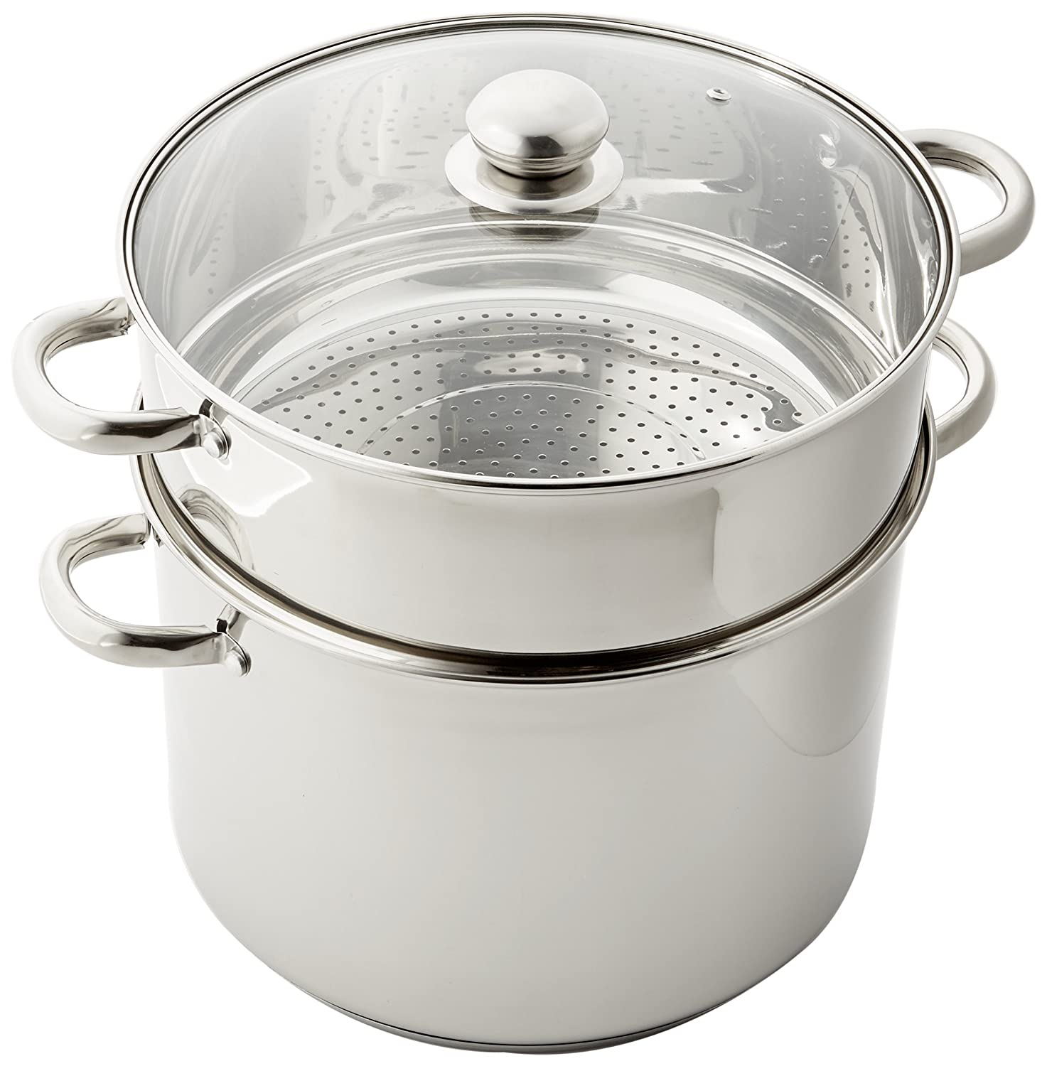 Kamberg Couscous Pan, Stainless Steel, Stainless Steel, gray, 23,5 x 23,5 x 22 cm Cash Impact 0008070