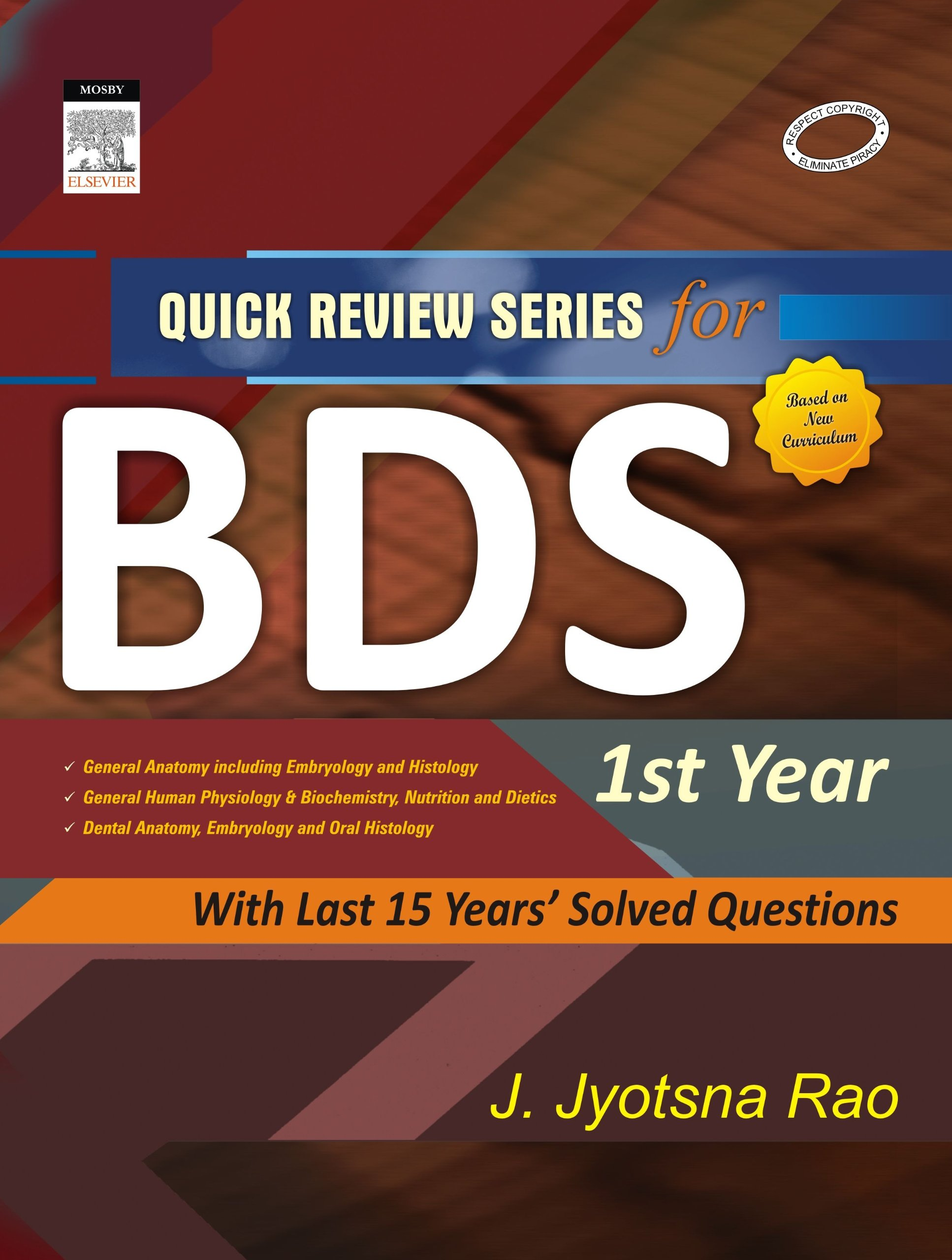 Buy Quick Review Series For Bds 1st Year Old Edition Book Online