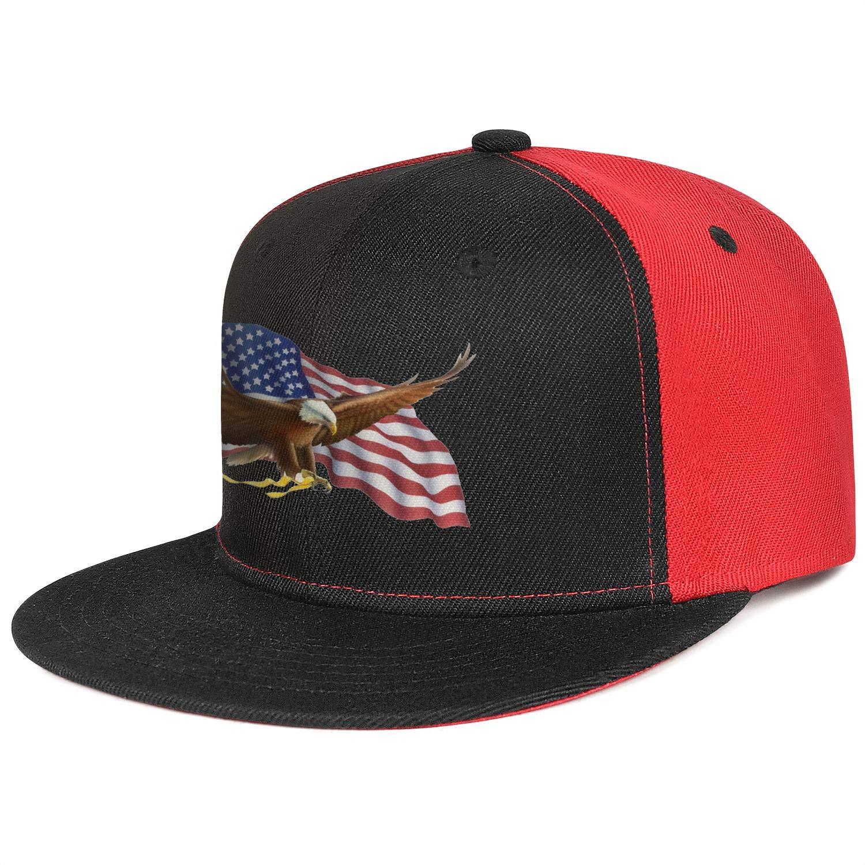 Bald Eagle American Flag 7 Mens Womens Trucker Hats Casual Snapback Flat Brim Cap