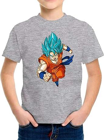 The Fan Tee Camiseta de NIÑOS Dragon Ball Goku Vegeta Bolas de Dragon Super Saiyan 075: Amazon.es: Ropa y accesorios