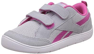 07c13fe6883 Reebok Boy s Ventureflex Chase Ii Cloud Grey Pink White First Walking Shoes  - 1.5