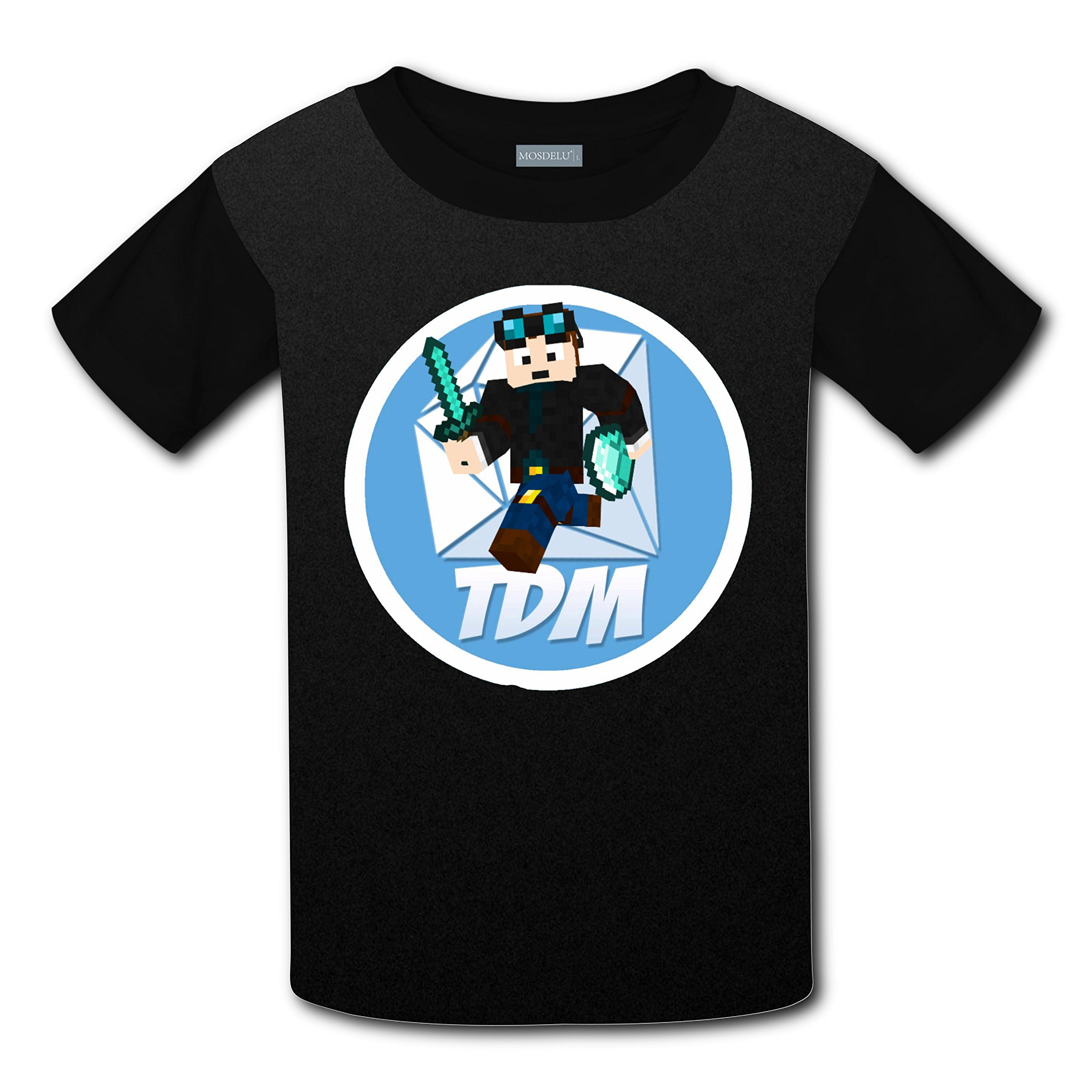 The Diamond Minecart TDM Logo 3D Printed Short Sleeve Crew Neck T-Shirt For Boys by BIBIVE
